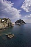 ITALIË, Campania, Ischia eiland, S.Angelo, royalty-vrije stock afbeelding