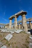 Italië, Campania, Paestum - Tempel van Hera Royalty-vrije Stock Fotografie