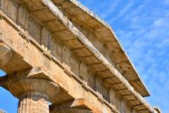 Italië, Campania, Paestum - Tempel van Neptunus Stock Afbeelding