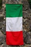 Italië: De Italiaanse vlag wordt genoemd 'Tricolore' Stock Fotografie