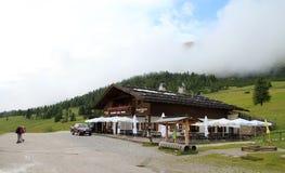 Italië, Dolomiet/Berghut stock foto's