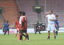 Italië en AC Milan Legend Daniele Massaro royalty-vrije stock foto
