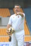 Italië en AC Milan Legend Daniele Massaro royalty-vrije stock fotografie