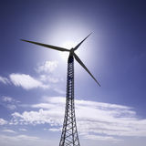 Italië, eolic energieturbines Royalty-vrije Stock Foto's