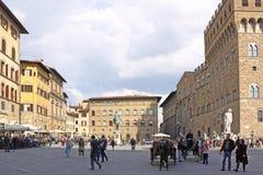 Italië Florence Italië Florence Piazza della Signoria royalty-vrije stock afbeelding