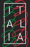 Italië Grafisch de typografieontwerp van Italië Royalty-vrije Stock Foto's