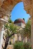 Italië Het eiland van Sicilië De stad van Palermo De kloosterbinnenplaats (CLO Stock Fotografie