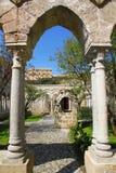 Italië Het eiland van Sicilië De stad van Palermo De kloosterbinnenplaats van S Stock Foto's