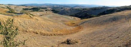 Italië, Landschap dichtbij Volterra Stock Afbeelding