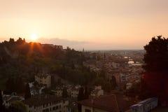 Italië Landschap van avond Florence stock fotografie