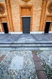 Italië Lombardije in het vergiate oude kerk gesloten slepen royalty-vrije stock fotografie
