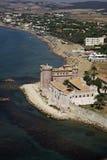 Italië, luchtmening van de tirrenian kust Royalty-vrije Stock Afbeelding