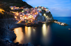 Italië Manarola Cinque terre Stock Foto's