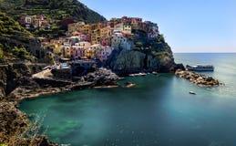 Italië Manarola Cinque terre Ligurië Royalty-vrije Stock Foto's