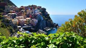 Italië Manarola Cinque terre Ligurië Stock Afbeeldingen