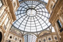 Italië Milaan, 05 09 2017 Galleria Vittorio Emanuele Royalty-vrije Stock Foto