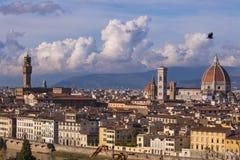 Italië Mooie meningen van Florence, Kathedraal Santa Maria del Fiore Stock Foto