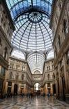 Italië Napels De eeuw openbare galerij van galerijumberto royalty-vrije stock fotografie