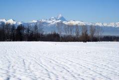 Italië, Piemonte. Een mening de bergketen van de Alpen Cottian Royalty-vrije Stock Afbeeldingen