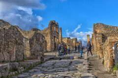 Italië, Pompei, Straat 02.01.2018 in Pompei, Italië Pompei is a Royalty-vrije Stock Fotografie
