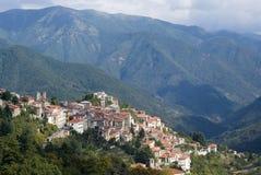 Italië Provincie van Imperia Oud middeleeuws dorp Triora Stock Foto