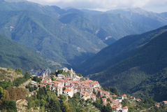 Italië Provincie van Imperia Oud middeleeuws dorp Triora Royalty-vrije Stock Foto's