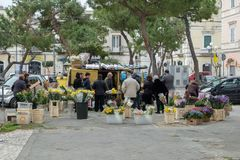 Italië, Puglia, Bari, Trani, stadsmarkt royalty-vrije stock afbeelding