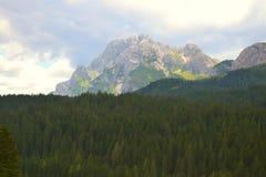 Italië, 2018, ricreazione, chalet, Venezia, Sappada, le montagne, de retro bergen, alpen royalty-vrije stock foto