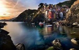 Italië Riomaggiore Cinque terre Stock Fotografie