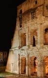 Italië. Rome. Colosseo (Coliseum) bij nacht stock afbeeldingen