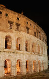 Italië. Rome. Colosseo (Coliseum) bij nacht. royalty-vrije stock foto