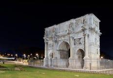 Italië. Rome (Rome). Arco Di Constantino bij nacht royalty-vrije stock afbeeldingen