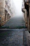 Italië Sicilië Caltagirone - het belangrijkste oriëntatiepunt van de stad is 142 Di Santa Maria del Monte van stap monumentaal Sc royalty-vrije stock afbeelding