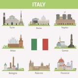Italië. Symbolen van steden Stock Foto's
