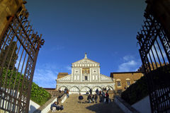 Italië, Toscanië, Florence, al Monte van Sa Miniato kerk Stock Fotografie