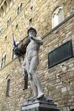 Italië, Toscanië, Florence, David di Michelangelo, Vierkante della Signoria Royalty-vrije Stock Foto
