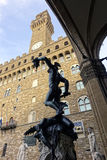 Italië, Toscanië, Florence, Perseo-Di Benvenuto Cellini, Vierkante della Signoria Stock Fotografie