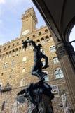 Italië, Toscanië, Florence, Perseo-Di Benvenuto Cellinib, Vierkante della Signoria Royalty-vrije Stock Afbeeldingen