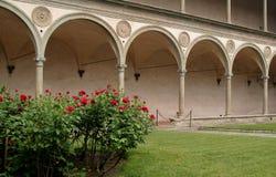 Italië, Toscanië, Florence, Santa Croce-kerk Stock Afbeeldingen