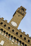 Italië, Toscanië, Florence, Torre D'Arnolfo, Vierkante della Signoria Stock Foto