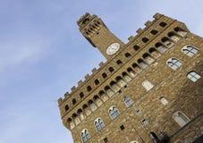 Italië, Toscanië, Florence, Torre D'Arnolfo, Vierkante della Signoria Royalty-vrije Stock Foto