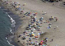 Italië, Toscanië, Versilia-strand Stock Foto