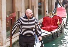 Italië Venetië Boze gondelier stock afbeelding