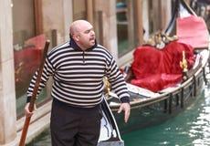 Italië Venetië Boze gondelier stock fotografie