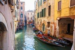 Italië, Venetië, 25 Februari, 2017 een waterdorp in Venetië met Royalty-vrije Stock Foto