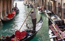 Italië Venetië gondolier stock afbeelding
