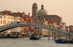 Italië. Venetië. Het Kanaal van Gran, Brug Scalzi royalty-vrije stock afbeelding