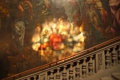 ITALIË, VENETIË - September 8: Het schilderen in Scuola Grande Di Sa stock afbeeldingen