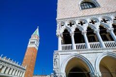 Italië, Venetië st het vierkant en campanile van het teken Royalty-vrije Stock Afbeelding
