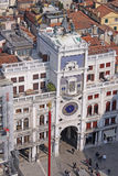 Italië Venetië - Torre-dell Orologio - St Clocktower van het Teken Stock Fotografie